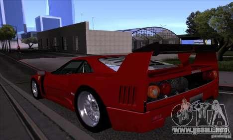 Ferrari F40 GTE LM para la vista superior GTA San Andreas