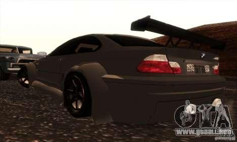 BMW M3 para visión interna GTA San Andreas