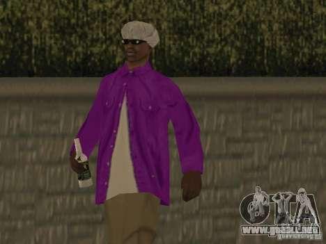 Nuevos aspectos Ballas para GTA San Andreas sucesivamente de pantalla