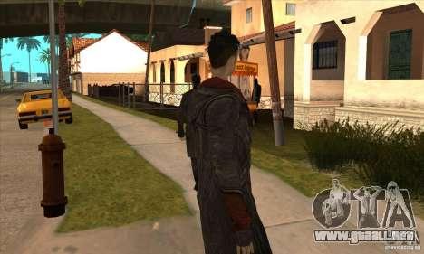 Dante de Devil May Cry para GTA San Andreas quinta pantalla