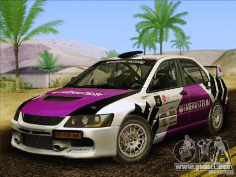 Mitsubishi Lancer Evolution IX Rally para la vista superior GTA San Andreas