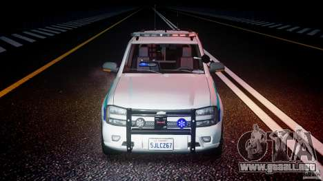 Chevrolet Trailblazer Police V1.5PD [ELS] para GTA 4 vista superior