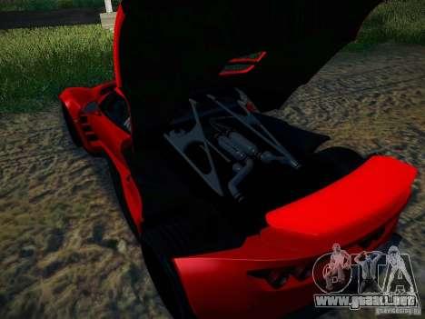 Hennessey Venom GT Spyder para visión interna GTA San Andreas