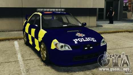 Subaru Impreza British ANPR [ELS] para GTA 4