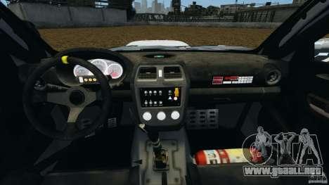 Subaru Impreza WRX STI N12 para GTA 4 vista hacia atrás