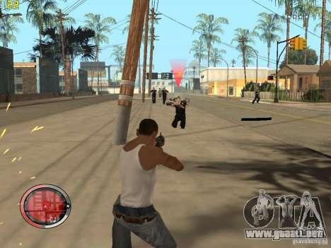 Además del HUD de GTA IV para GTA San Andreas octavo de pantalla