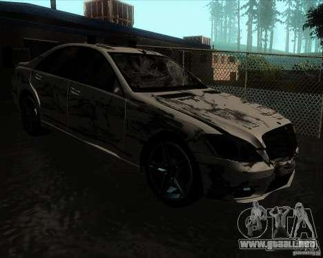 Mercedes-Benz S65 AMG W221 para visión interna GTA San Andreas