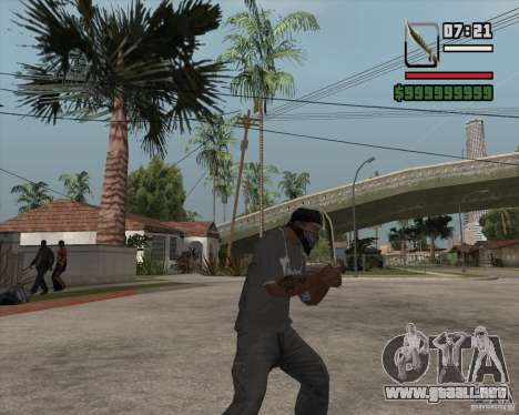 Steep Knife para GTA San Andreas segunda pantalla