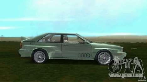 Audi Quattro para GTA Vice City left