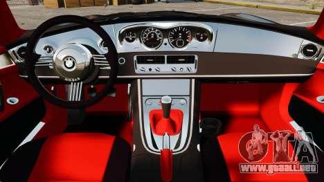BMW Z8 2000 para GTA 4 vista interior