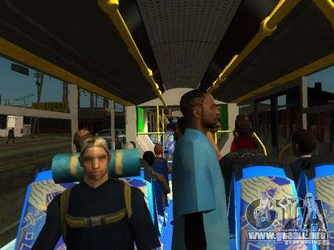 Trolebús LAZ E301 para la vista superior GTA San Andreas