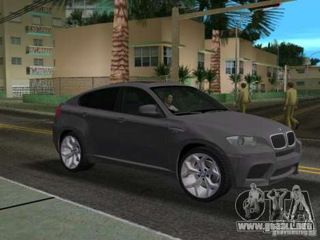BMW X6M para GTA Vice City vista lateral izquierdo