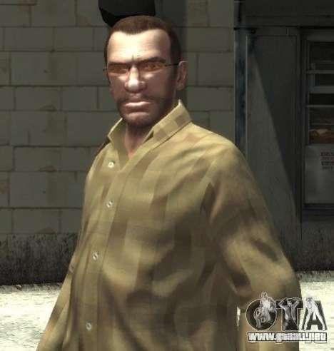 Nuevas gafas para Niko-rosado para GTA 4