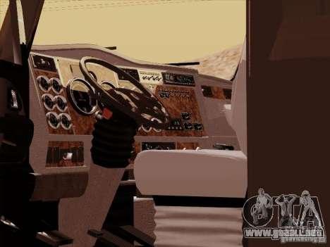 Kenworth T2000 para visión interna GTA San Andreas