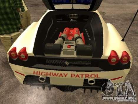 Ferrari Scuderia Indonesian Police para visión interna GTA San Andreas
