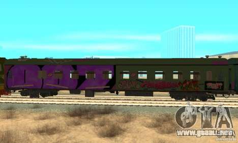 Custom Graffiti Train 2 para la visión correcta GTA San Andreas