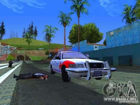 Ford Crown Victoria Police Patrol para la visión correcta GTA San Andreas