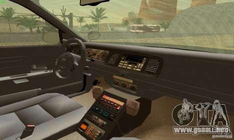 Ford Crown Victoria Maryland Police para GTA San Andreas vista posterior izquierda