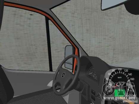 Mercedes-Benz Sprinter 518 MAXI 2007 para visión interna GTA San Andreas