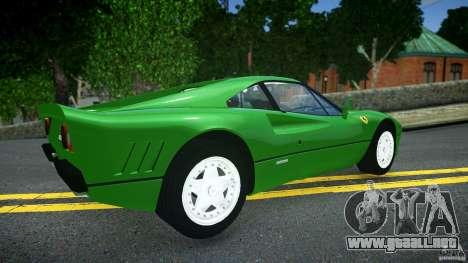 Ferrari 288 GTO EPM para GTA 4 Vista posterior izquierda