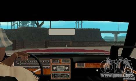Ford LTD Landau Coupe 1975 para la visión correcta GTA San Andreas