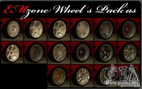 Wheels Pack by EMZone para GTA San Andreas
