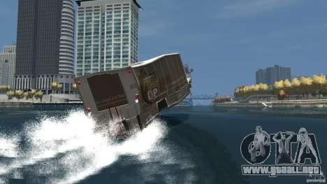 Benson boat para GTA 4 vista desde abajo