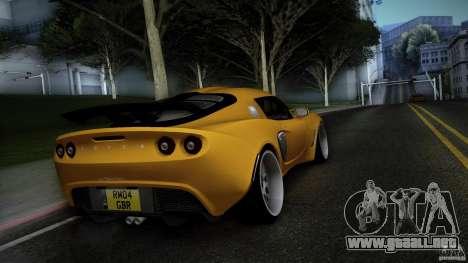 Lotus Exige Track Car para GTA San Andreas vista posterior izquierda