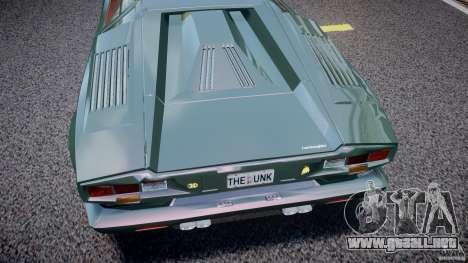 Lamborghini Countach v1.1 para GTA 4 vista interior