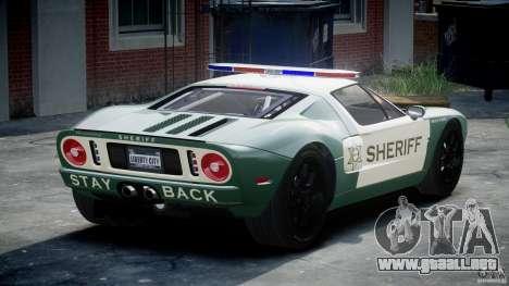 Ford GT1000 Hennessey Police 2006 [EPM][ELS] para GTA 4 Vista posterior izquierda