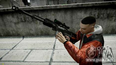 Accuracy International AS50 para GTA 4 tercera pantalla