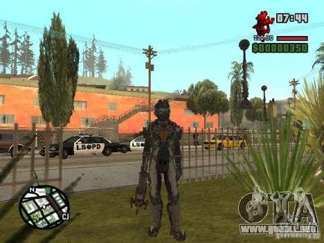 El traje de los juegos de Dead Space 2 para GTA San Andreas segunda pantalla