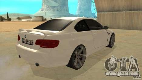 BMW 335i Coupe 2011 para la visión correcta GTA San Andreas