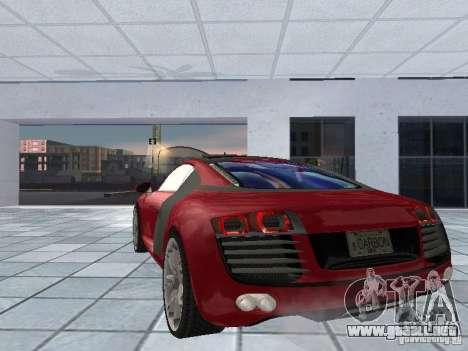 Audi Le Mans Quattro para GTA San Andreas vista posterior izquierda