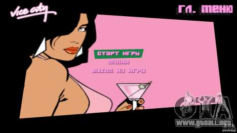 Menu para GTA Vice City