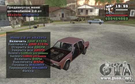 Extreme Car Control v.2.0 para GTA San Andreas segunda pantalla