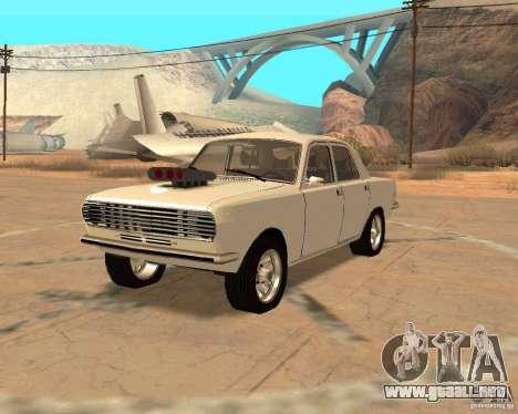 GAZ Volga 2410 caliente Road para la visión correcta GTA San Andreas