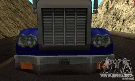 Nuevas texturas para auto para GTA San Andreas segunda pantalla
