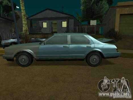 El taxi de romanos de GTA4 para GTA San Andreas vista posterior izquierda