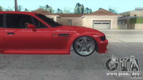 BMW Z3 M Power 2002 para GTA San Andreas vista hacia atrás
