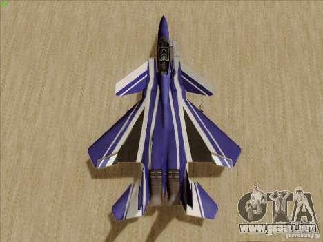 F-15 SMTD para GTA San Andreas vista hacia atrás