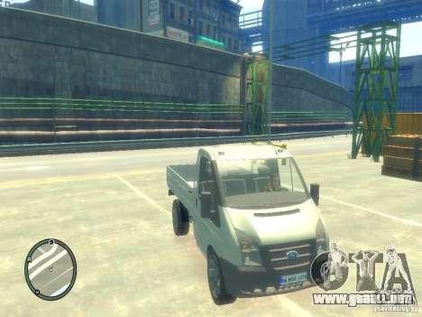 Ford Transit 2007 Pickup para GTA 4 visión correcta