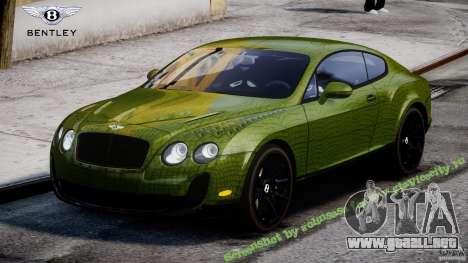 Bentley Continental SS 2010 Suitcase Croco [EPM] para GTA 4