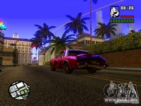 Timecyc BETA 2.0 para GTA San Andreas segunda pantalla