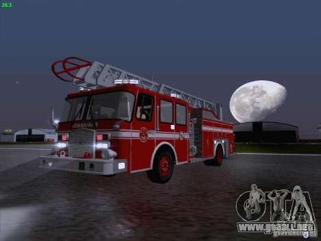 Camiao Dos Bombeiros ABE CBMESP para visión interna GTA San Andreas