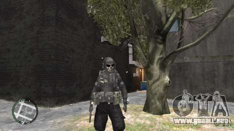 MW2 Ghost Diving Suit para GTA 4 tercera pantalla