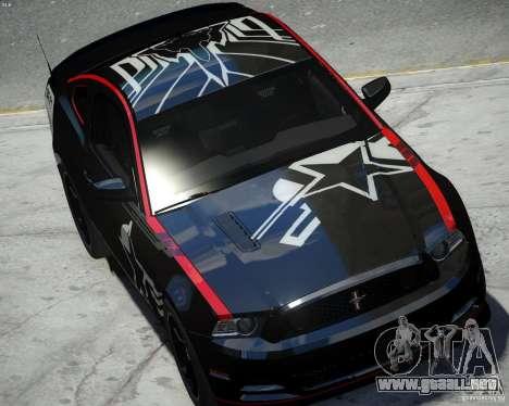 Ford Mustang Boss 302 para GTA 4 visión correcta