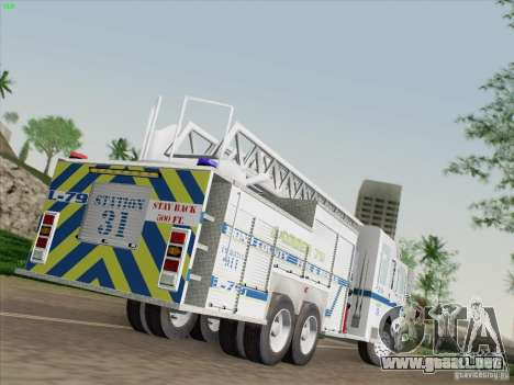 Pierce Puc Aerials. Bone County Fire & Ladder 79 para GTA San Andreas left
