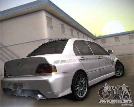 Mitsubishi Lancer Evolution IX Tunable para la vista superior GTA San Andreas