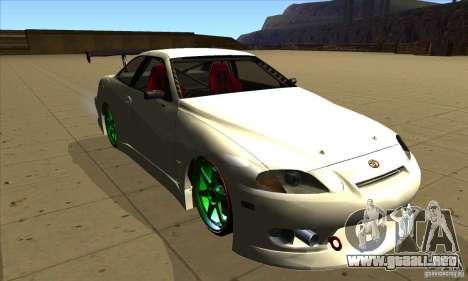 Toyota Soarer para GTA San Andreas vista hacia atrás